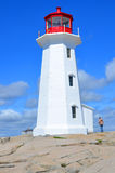 The lighthouse of Peggy's Cove Royalty Free Stock Photo