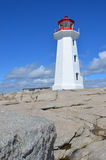 The lighthouse of Peggy's Cove Royalty Free Stock Image