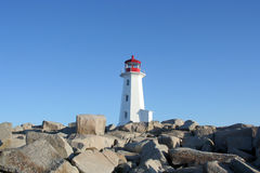 Lighthouse at Peggys Cove Royalty Free Stock Images