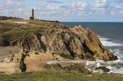 Lighthouse of Penedo da Saudade Stock Photo