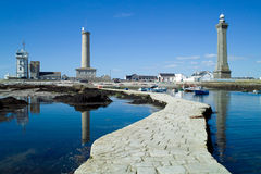 Lighthouse in penmarch brittany Stock Image