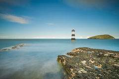 Lighthouse at Penmon Point, Anglesey Royalty Free Stock Images