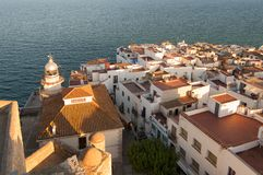 The lighthouse of Penyiscola, Valencia royalty free stock images