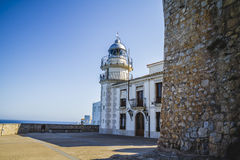 Lighthouse penyscola views, beautiful city of Valencia in Spain Stock Photos