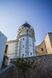 Lighthouse penyscola views, beautiful city of Valencia in Spain Royalty Free Stock Photo