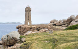 Lighthouse at Perros-Guirec Royalty Free Stock Image