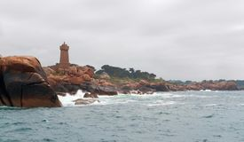 Lighthouse at Perros-Guirec Stock Photo