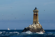 Lighthouse Phare de la Vieille Stock Photography