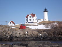 The LightHouse. This picture was taken in Maine Stock Photography
