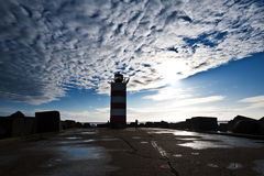 Lighthouse on pier Royalty Free Stock Photography