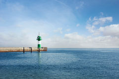 Lighthouse with Pier Royalty Free Stock Photos