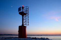 Lighthouse on the pier Royalty Free Stock Image