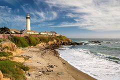 Lighthouse Pigeon Point, California Stock Photography