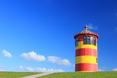 Lighthouse Pilsum, Germany Royalty Free Stock Images