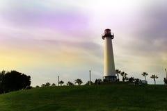 Lighthouse at Pine Avenue Pier. Long Beach, California, USA Harb Stock Photos