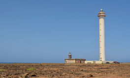 Lighthouse at Playa Blanca Royalty Free Stock Images