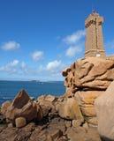 The Lighthouse at Ploumanac'h Stock Photos