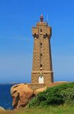 Lighthouse of Ploumanac'h, Brittany, France Stock Image