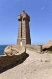 Lighthouse of Ploumanac'h in France Stock Photography