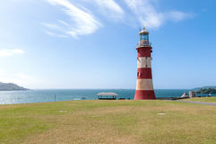 Lighthouse in Plymouth Royalty Free Stock Photos