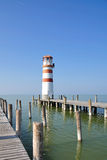 Lighthouse of Podersdorf,Lake Neusiedl Stock Photo
