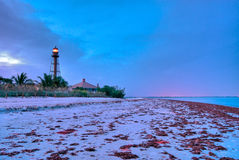 Lighthouse Point At Dusk Royalty Free Stock Image