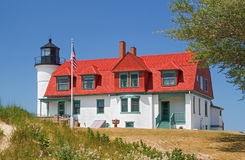 Lighthouse at Point Betsie Royalty Free Stock Photography