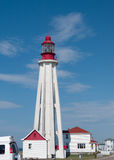 Lighthouse at Point Pere, Quebec,Canada Stock Photo