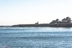 Lighthouse Point in Santa Cruz, California. View of the Lighthouse Point from the pier in Santa Cruz Royalty Free Stock Images
