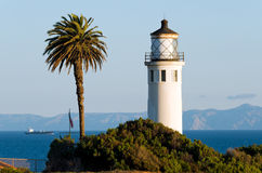 Lighthouse at the Point Vicente Interpretive Center Royalty Free Stock Images