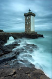 Lighthouse of Pointe de Kermovan in Le Conquet, Brittany, France Royalty Free Stock Photos