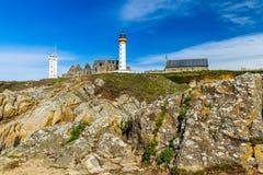 Lighthouse Pointe de Saint-Mathieu, Brittany Bretagne, France Royalty Free Stock Photo