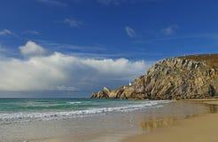 Lighthouse Pointe de Toulinguet, France Royalty Free Stock Photo