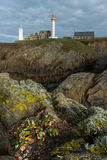 Lighthouse of Pointe Saint Mathieu in Plougonvelin, Brittany, Fr Stock Photography