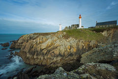 Lighthouse of Pointe Saint Mathieu in Plougonvelin, Brittany, Fr Royalty Free Stock Photo