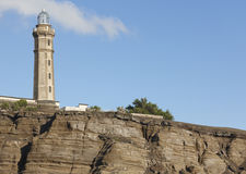 Lighthouse in Ponta dos Capelinhos. Faial island. Azores archipe Stock Photo