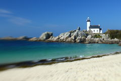 Lighthouse Pontusval Stock Images