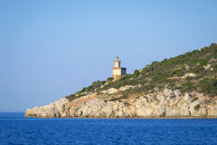 Lighthouse at Poros island Stock Photography