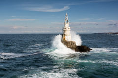 Lighthouse in the port of Ahtopol, Black Sea, Bulgaria Royalty Free Stock Image