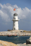 Lighthouse in the port of Alanya, Stock Photo