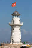 Lighthouse in the port of Alanya, Royalty Free Stock Photography