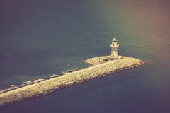 Lighthouse in port Alanya, Turkey. Mediterranean sea. Royalty Free Stock Photos