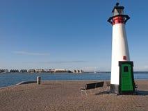Lighthouse port of Assens Denmark. Port lighthouse at the port of Assens Denmark Royalty Free Stock Photo