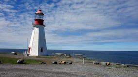 Lighthouse. Port Au Choix Lighthouse in Newfoundland stock photo