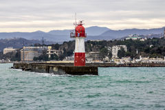 Lighthouse in the port city of Sochi Royalty Free Stock Images