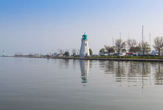 Lighthouse in Port Dalhousie in Ontario Stock Image