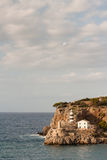 Lighthouse at Port de Soller in Mallorca Royalty Free Stock Image