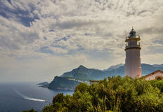Lighthouse at Port de Soller Royalty Free Stock Image