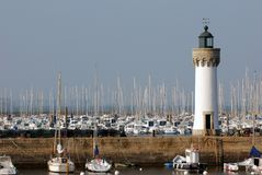 The lighthouse at Port Haliguen stock image