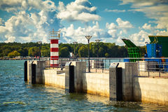 Lighthouse in the port of Klaipeda Royalty Free Stock Images